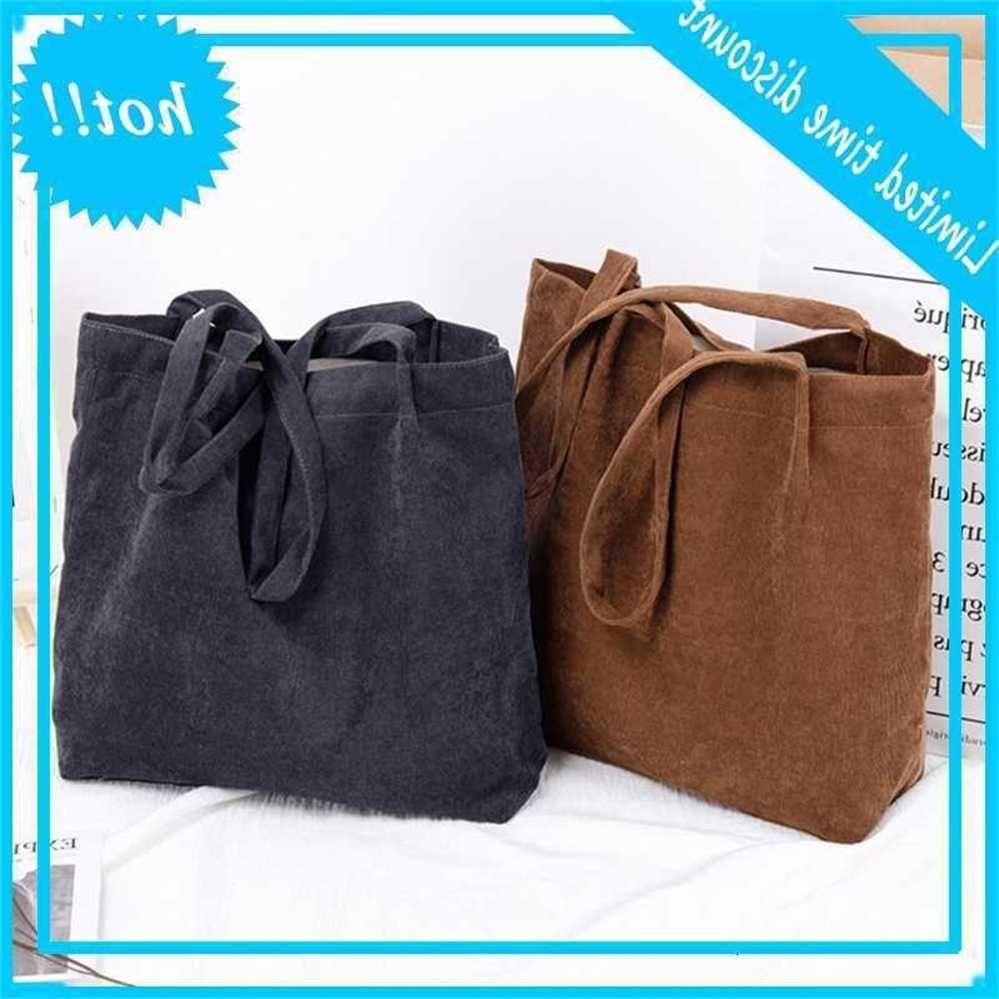 Fashion Women Corduroy Shoulder Bag Dead Pure Top Handle Cups Satchel Messenger Handbag