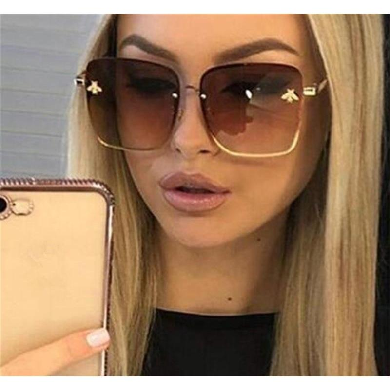 Other Festive Party Supplies Home & Garden Drop Delivery 2021 Hope Square Bee Sunglasses Women Men Retro Brand Designer Metal Frame Oversized
