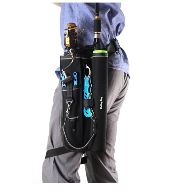 Рыбацкая сумка для хранения рыбалки Спортивная талия Одноместный рыболовный плечо снасти пакета стержень сумка приманки держатель шестерни WBOVO