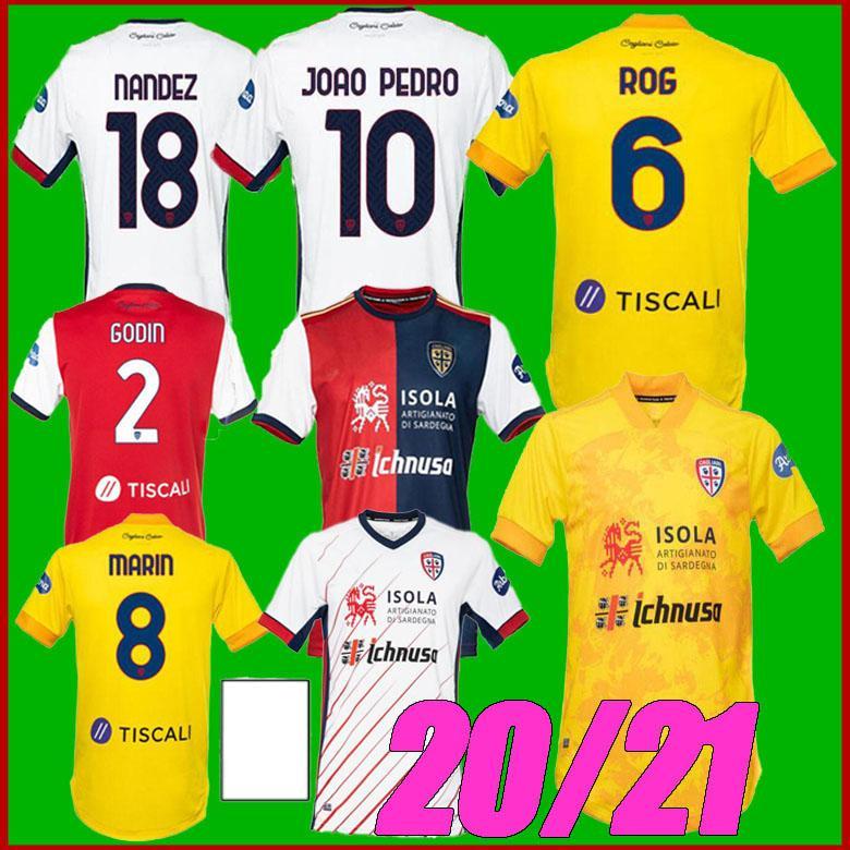 20 21 Cagliari Calcio Futbol Formaları Cententary Joao Pedro Sınırlı Üretim Nainggolan 2020 2021 Maglie Da Yıldönümü Futbol Gömlek