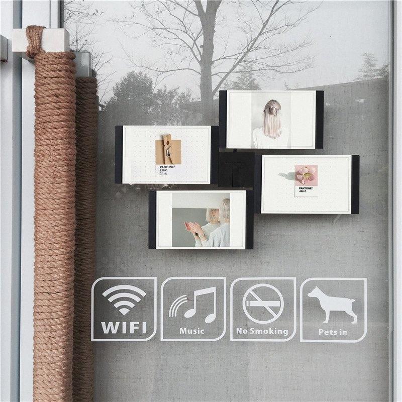 Multi-châssis Blanc Noir bricolage Cadres Home Décor transparent multifonctions Accueil outil Cadres photo Set avec Nail ynsL #