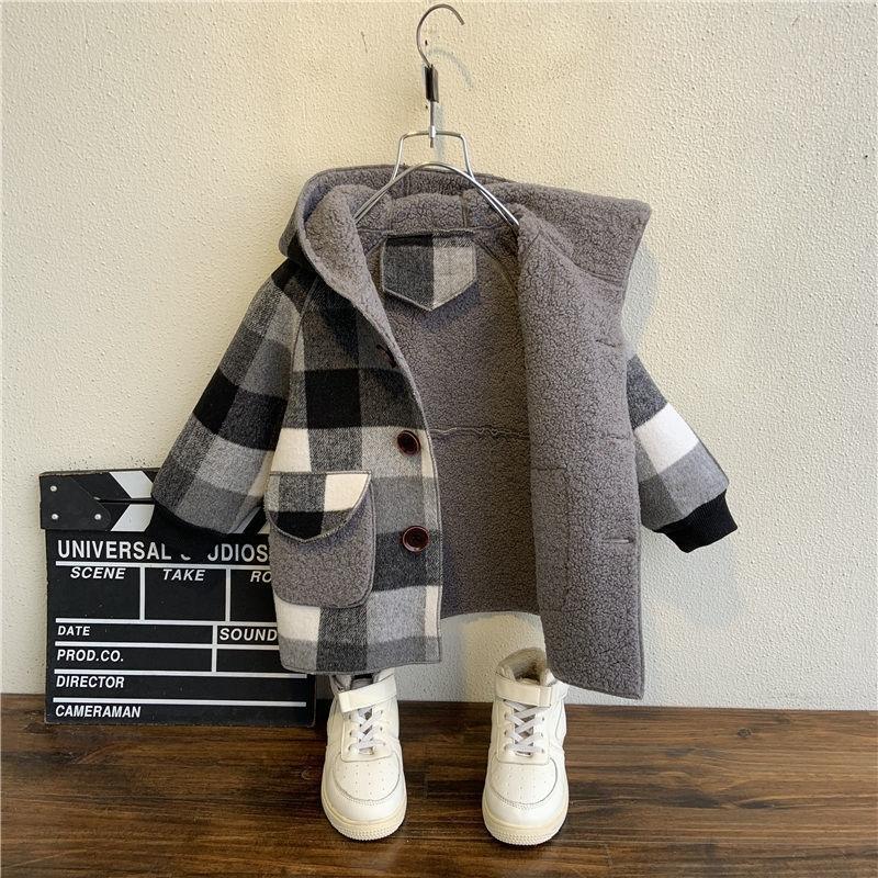 Güz Kış Polar Ceketler için Erkek Siper Çocuk Giyim 2-10Y Kapşonlu Sıcak Giyim Rüzgarlık Bebek Çocuk Mont Y200901