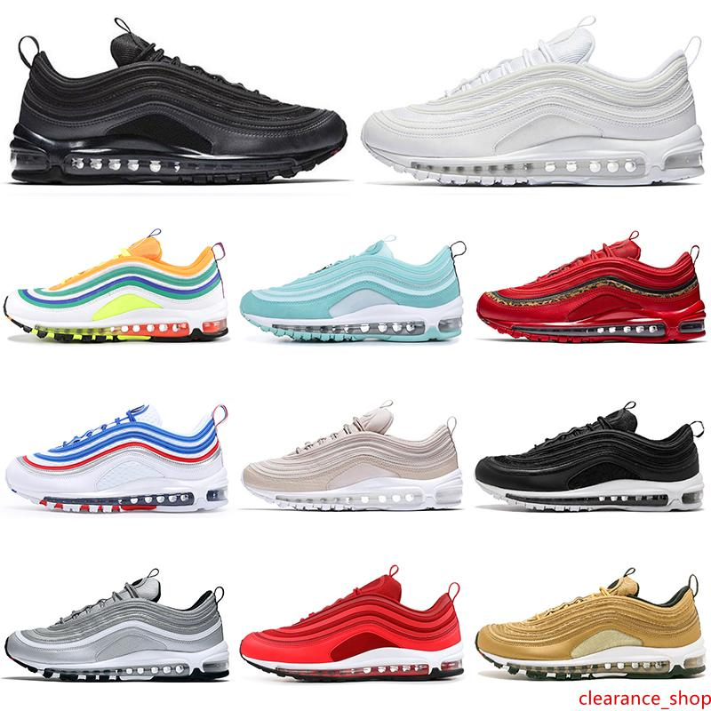 Venta al por mayor LONDRES VERANO DE AMOR zapatos para correr para hombre, hombres, mujeres triples verde blanco negro de plata de oro de bala moda entrenador las zapatillas de deporte