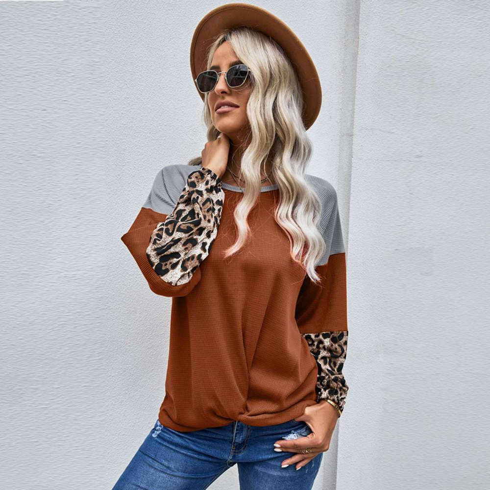 Shiying shirt new stitching loose round neck Pullover long sleeve women's T-shirt 251937