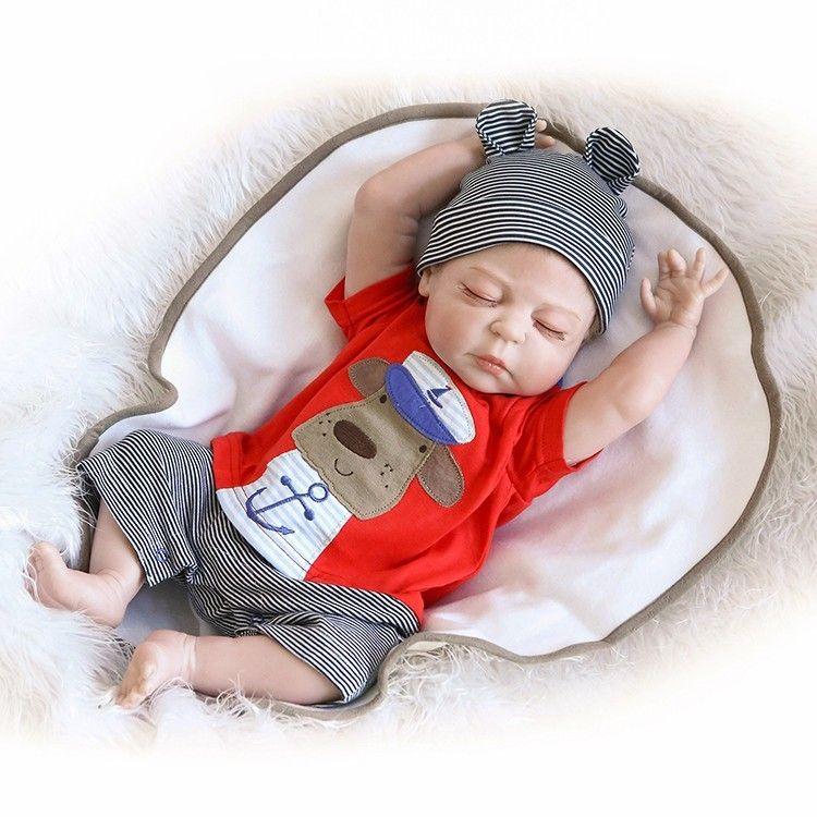 49CM premie bebes Reborn Dolls Realistic newborn baby Doll soft full body silicone Boneca Doll doll Christmas Surprice 1011