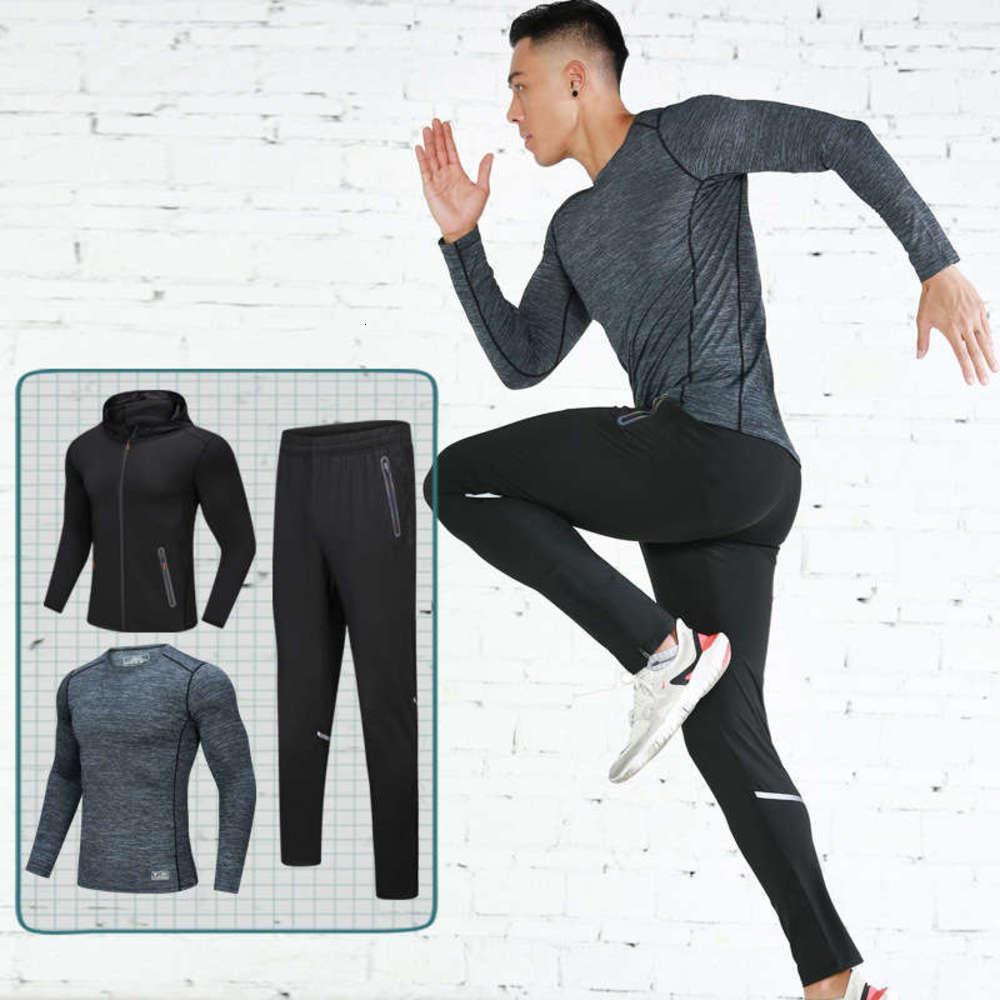 Kleidung Frühling und Herbst Herbst Fitness 2020 Neue Schnelltrocknung Strumpfhosen Zweiteiliges Outdoor Cycling Sportswear Set