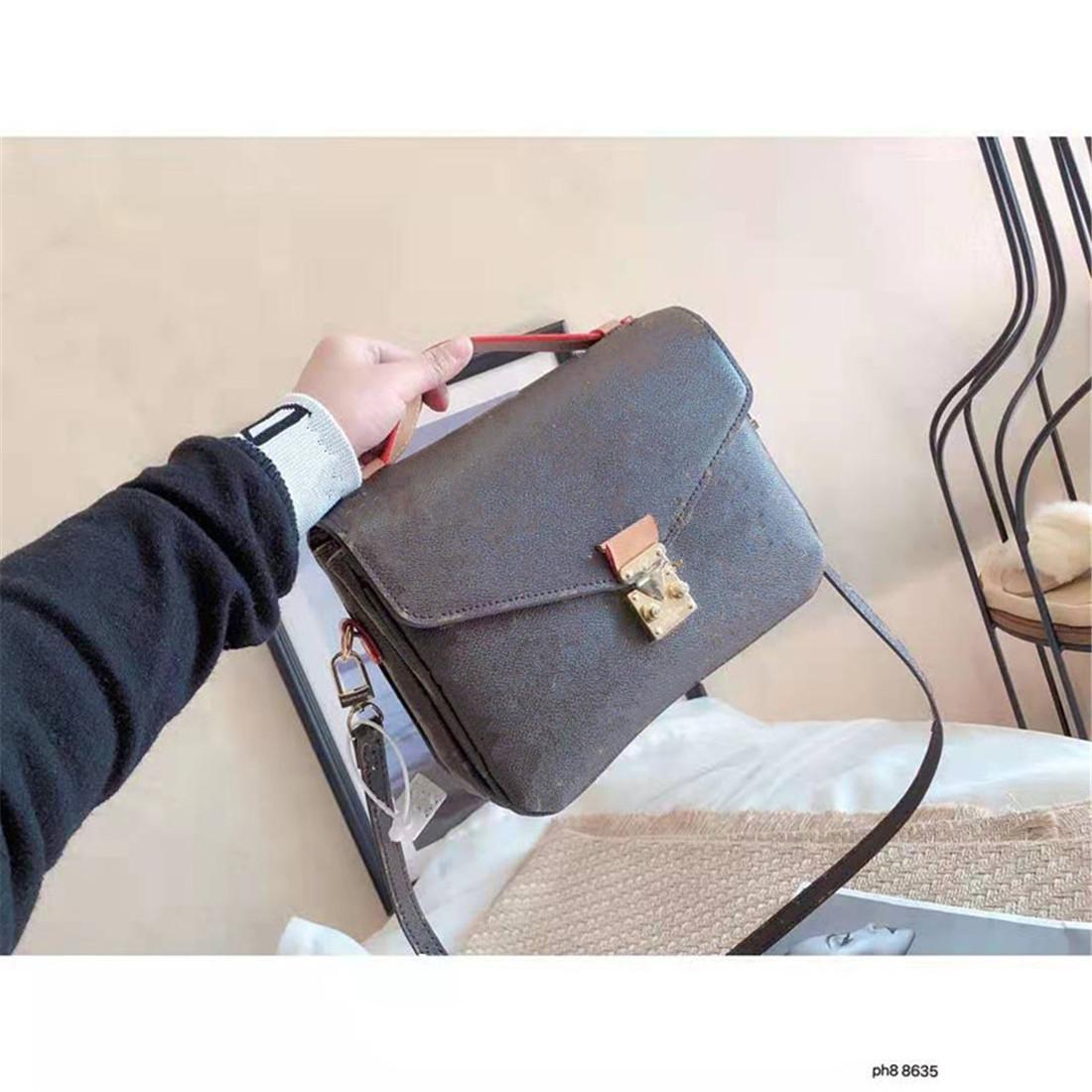 Kadın 2021 Yeni Lady Presbiyopik Tek Hakiki Deri Çanta Moda Kadın Çanta Vintage Taşınabilir Eğimli Omuz Çantası Tote Çanta