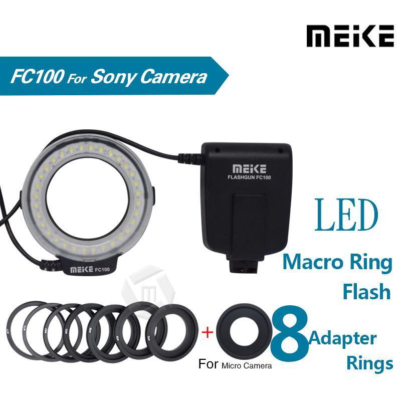 Meike -FC100 5500K LED Makro-Ringblitzlicht Kit für A100 A200 A230 A290 A300 A330 A350 A380 A390 A450 A500 A550 A560
