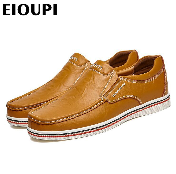 EIOUPI top quality new design genuine real cow leather mens fashion business casual shoe breathable men shoes lh2389 201008