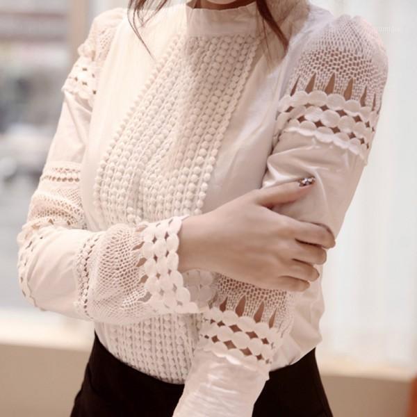 Fashion dames blouses blouses à manches longues à manches longues Crochet Blouses 2020 Vêtements femme Blouse féminin1