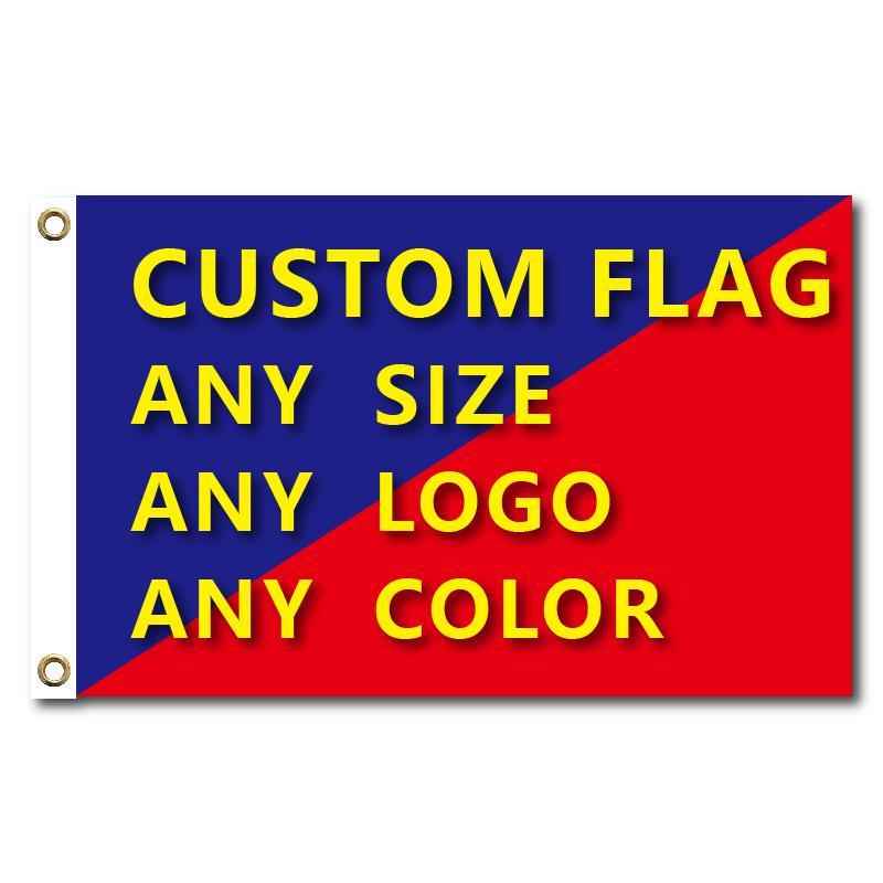 Bandeiras e faixas gráfico feito sob encomenda da bandeira impresso com Shaft tampa de latão Grommets Free Design Publicidade Exterior bandeira decoração C1002