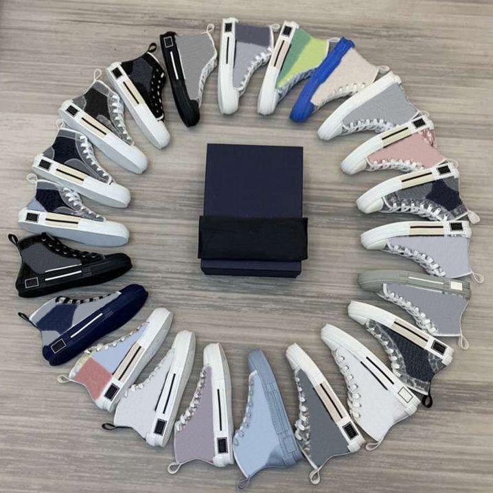 2021 NEUE LIMITED Edition Zollgedruckte Leinwandschuh Heißer Verkauf Vielseitig hoher und niedriger Schuh mit originaler Verpackungsschuhkasten