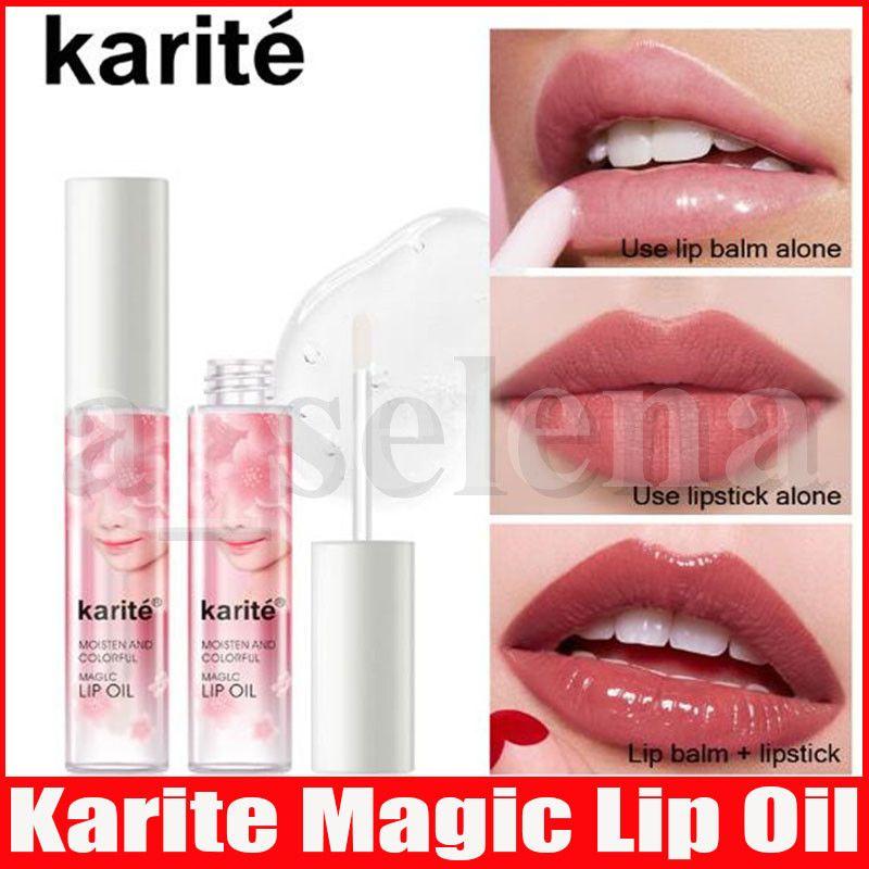 Karite Lip Makeup Liquid Crystal Glow Lip Gloss Oil Liquid Lipstick Pigment Glitter Lipgloss Lip Plumper Gloss
