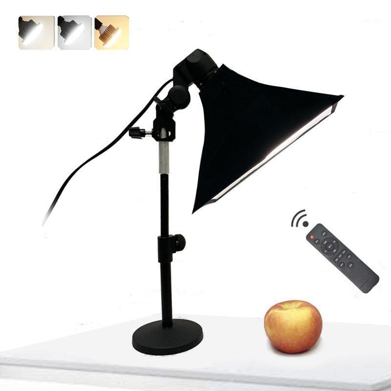 Fotografia Desktop 35W LED Encher Light com suporte Suporte Softbox Duffuser Kits para foto Video Shooting1
