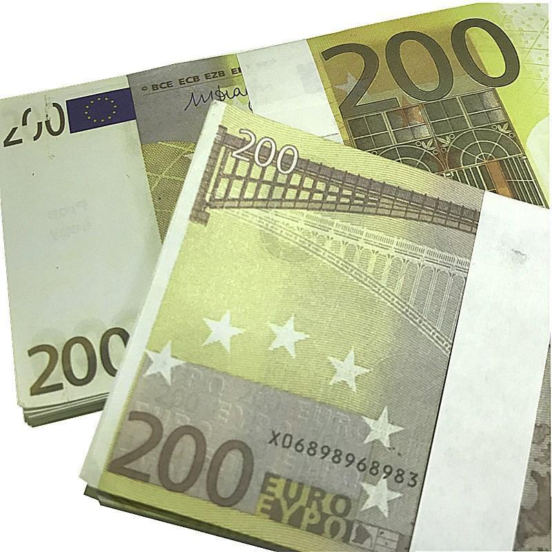 Soldi dollari soldi falsi L5 200 PLAY EUR PROP Valuta Euro Movie Faux Contraffazione 100pcs / Pack Bra Euro Billet Ingol QSQXE
