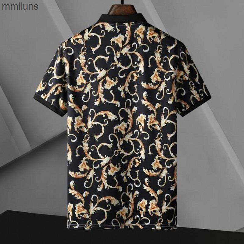 Mens polo impressão bordado superior para Itália moda polos camisa homens high street algodão tags tops camiseta