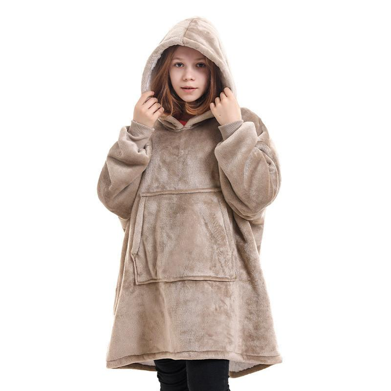 Children Winter with Sleeves Oversized Hoodie Fleece Warm Hoodies Sweatshirts Giant TV Blanket Hoody Robe DHC2794