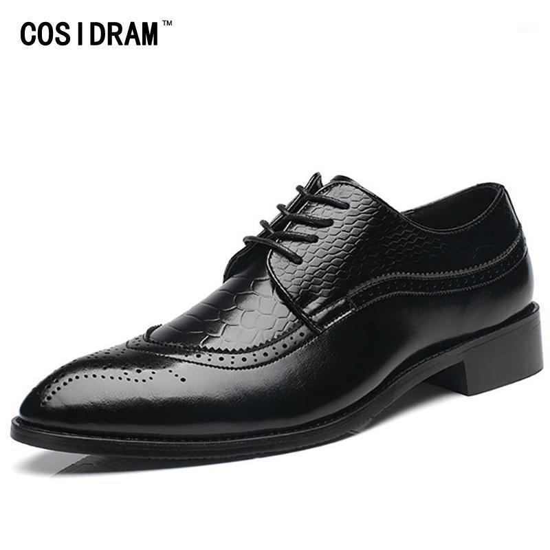 COSIDRAM BRUGUE Punta punta da uomo scarpe da uomo in pelle PU Oxfords scarpe formali 2020 Primavera Business Wedding per maschio BRM-9141