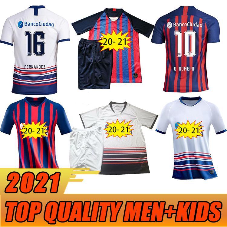 2020 Jersey di calcio di San Lorenzo 2020 21 # 10 # 10 # 92 Romero Poblete Poblete Barero Football Uniform Mens # 38 Gaich B.Piton Shirt