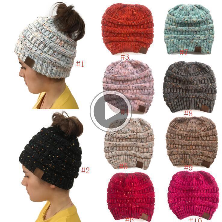 KMK4 CC Beanies Renkli Örme Tığ twist Headdress Kış Kulak Isıtıcı Şapka Kış Saç Acssories Atkuyruğu Şapka