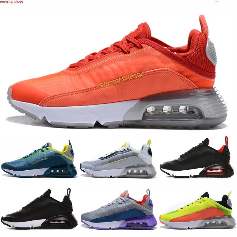 Max 2090 Nuevo al aire libre barato 2090 mujeres zapatos de hombre brushstroke triple negro blanco puro platino para hombre entrenadores de diseñador zapatillas de deporte 36-45