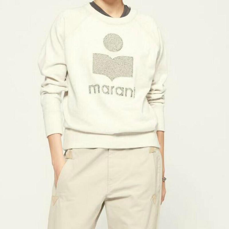 Frauen 2020ISABEL MARANT Sweatshirt Winter Pullover Herbst Baumwolle Pullover Beflockung Brief Stickerei beiläufiges Sweatshirt O-Ansatz lose terry