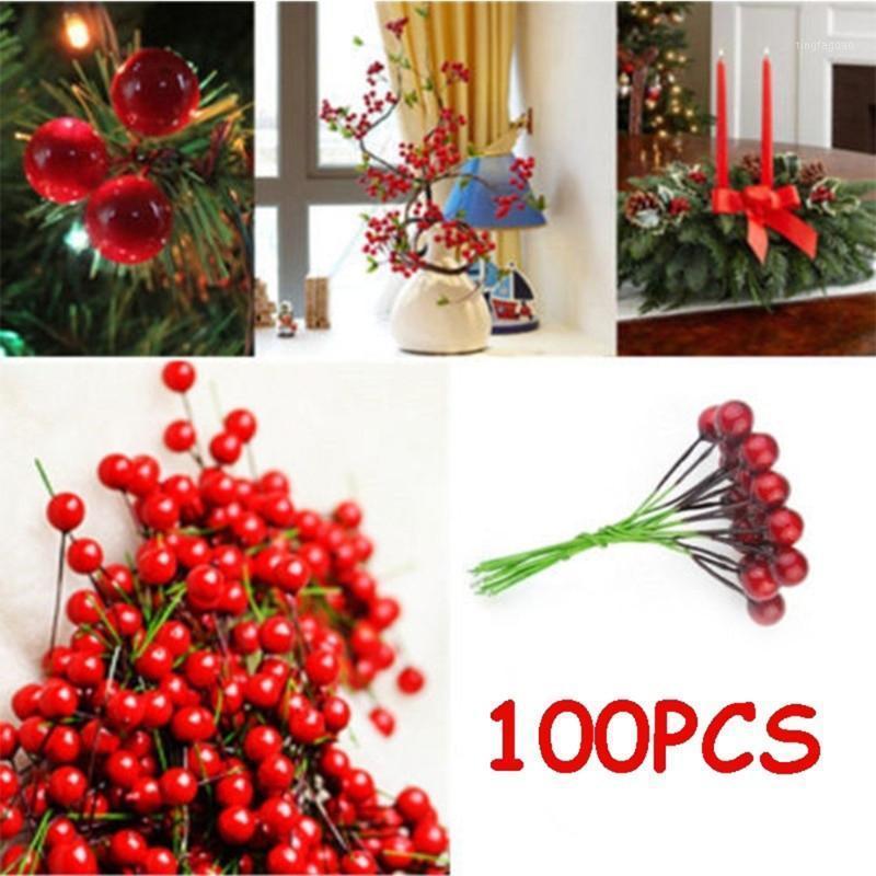 Weihnachtsdekorationen Schöne falsche Obst Dekor Trockene Blumen Schaum Ball DIY Künstliche Beere Decortive Party Hochzeit1