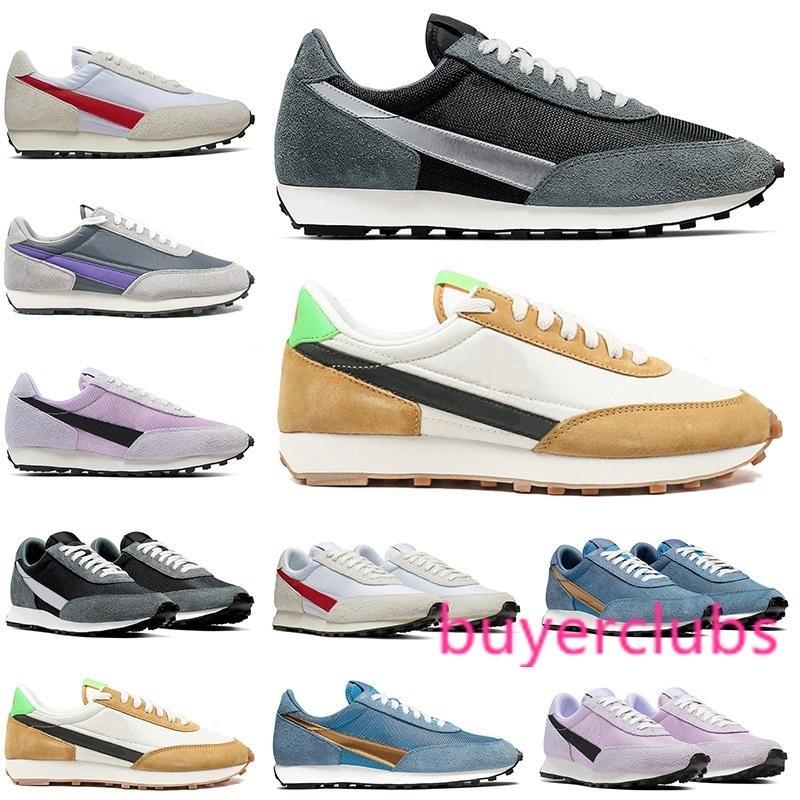 Nouveaux 2020 Waffle AUBE SP Chaussures Casual Hommes Femmes Chaussures de sport gris métallisé bleu course rose chaussure de sport Taille 36-45