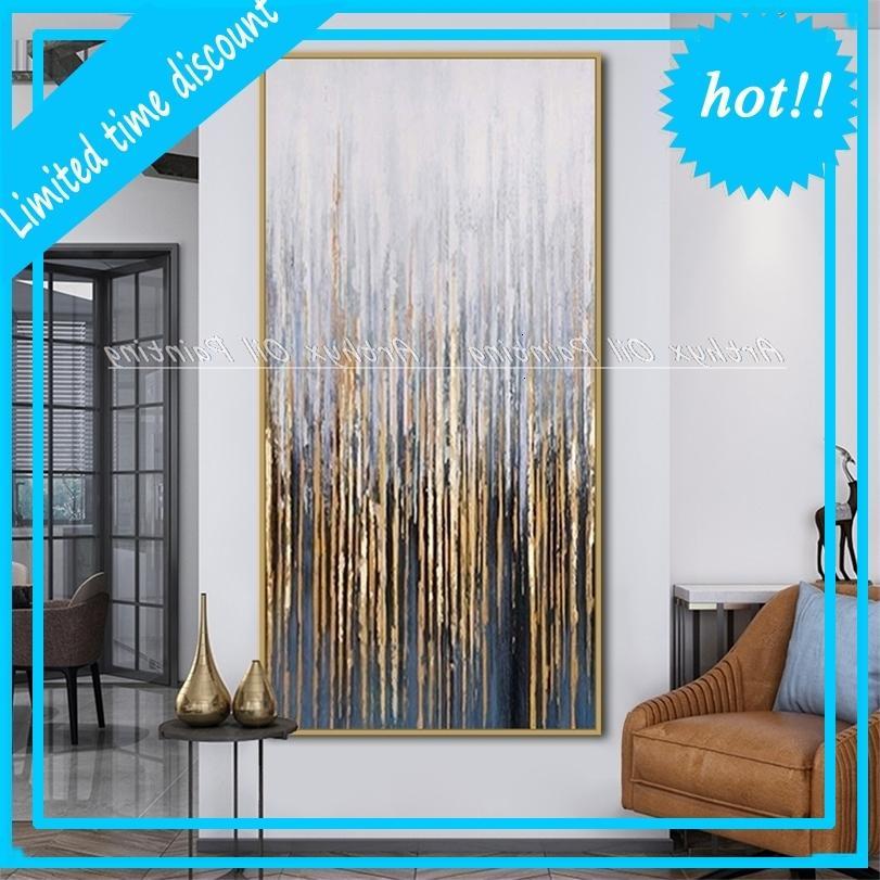 Arthyx 3D resumen de árboles colorido pintura al óleo de árboles modernos paletas de tejido de oro y plata flores pinturas arte de pared