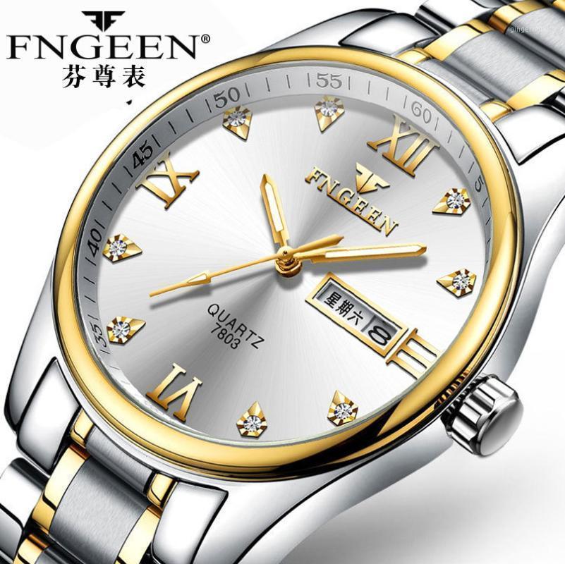 Uomo di lusso orologio da uomo impermeabile Business Orologi da quarzo Chronograph full acciaio maschile orologio da polso uomo relogio masculino1