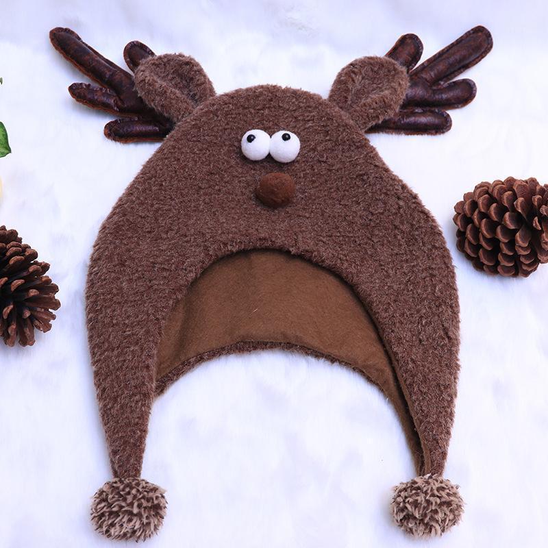 حار عيد الميلاد قبعة الكبار الأطفال كاب عيد الميلاد utenciles الديكور الأيائل قبعة سانتا الكبار ديكورات 1