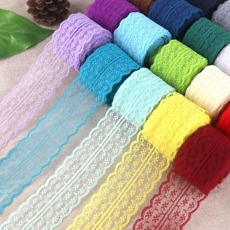 10yard 4.5cm color non-elastic lace rice-shaped lace clothing sewing DIY accessories Lace Ribbon Roll