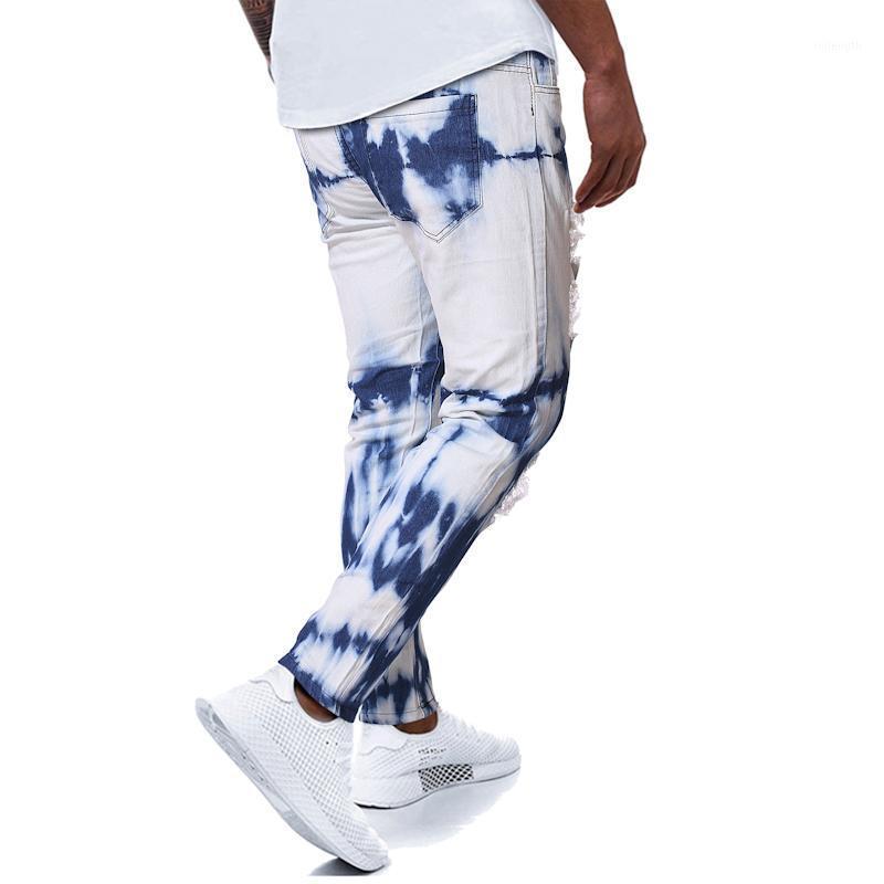 2020 otoño invierno hombre moda nieve impresa pantalones casuales hombre delgado ajuste estirar los pantalones vaqueros clásicos para pantalones largos1