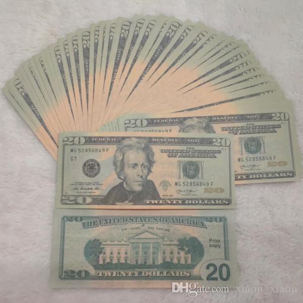 Банкнота Детская банкнота припорочный фильм Валюта Доллор Деньги Подарок Доллар Деньги Вечеринка Фальшивая Новинка Бумага Игрушки Игрушки США 04 WNCTA