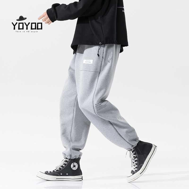 Pantalones para hombres Yoyoo Hombres de invierno Ropa de algodón Extremo Streetwear Cargo Casual Poed Men's Man1