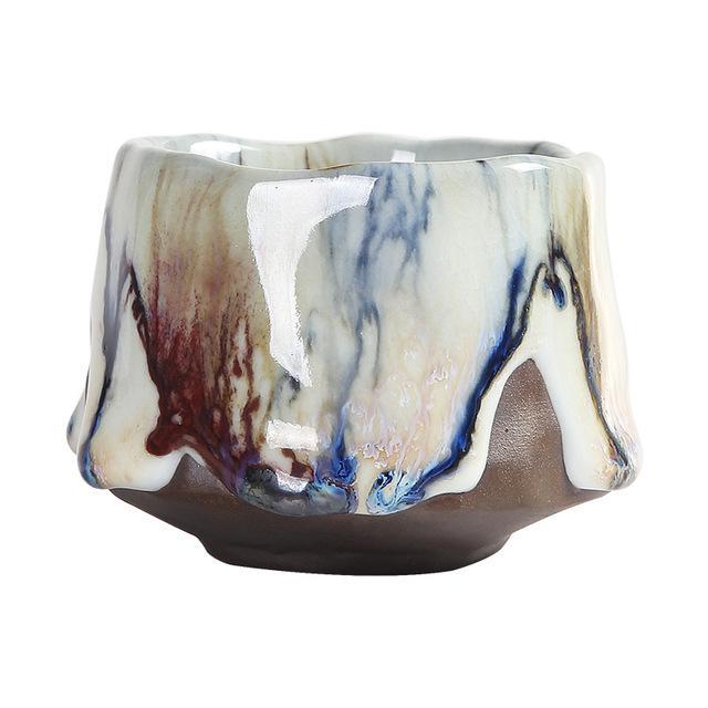 Handmade Tianmu Jianzhan Firewood Ru Kiln Ceramic Tea Master Cup Ru kiln Teacup Single 130ml 160ml