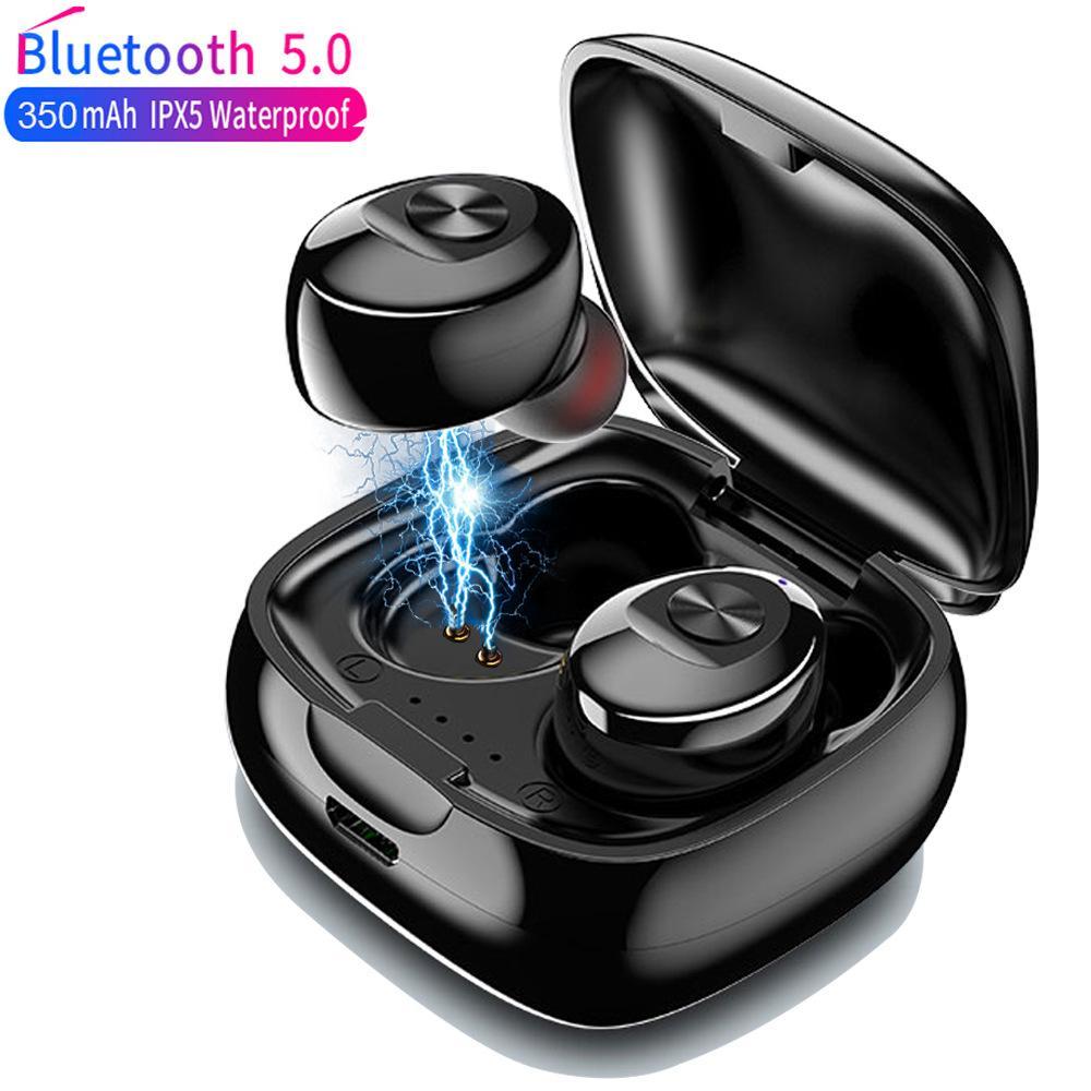 дешевые TWS беспроводные наушники 5.0 True Bluetooth Earbuds IPX5 водонепроницаемый спортивный 3D гарнитура VS F9 для iPhone 11 12 Samsung S10 универсальный