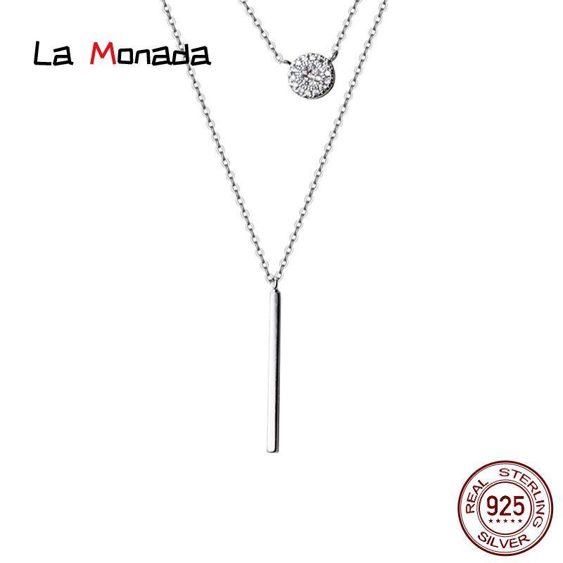 40,5 cm + 5 cm Koreanische weibliche Halskette Silber Minimalistische Frauen Schmuck Runde Schicht Silber Kette Halskette Für Frauen am Hals