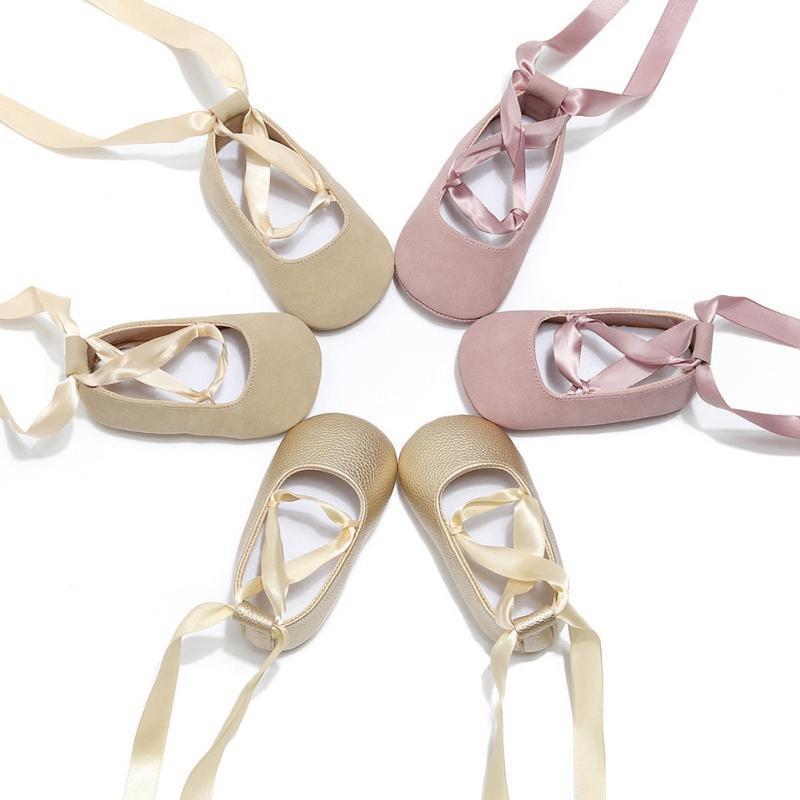 Первые ходунки родились девочка обувь весенней балерина танец сладкий очень легкая лента малыш младенца