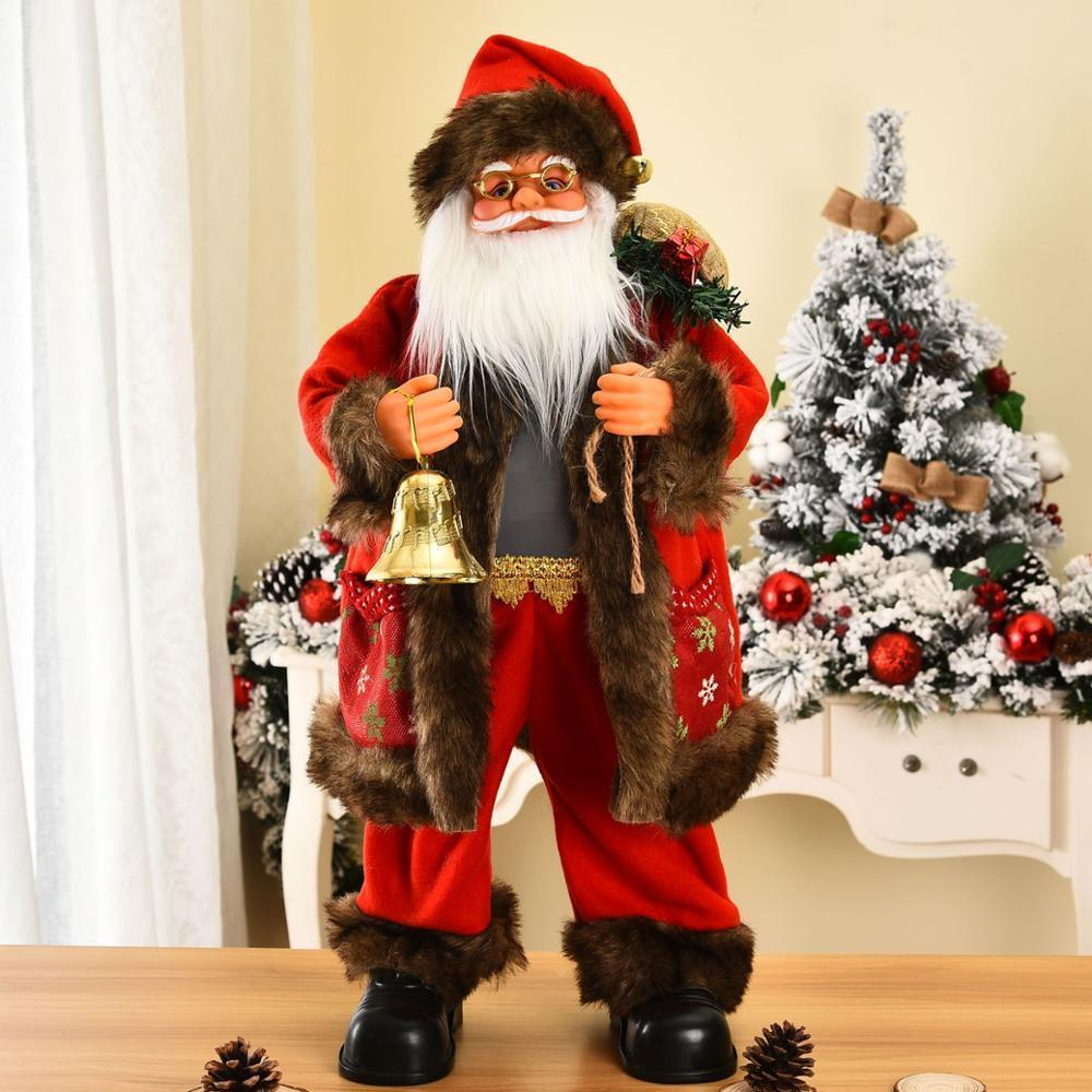 Высоко новый творческий санта праздник праздник с рождеством украшения для дома с новым годом 2021 Санта-Клаус плюшевая кукла 201203