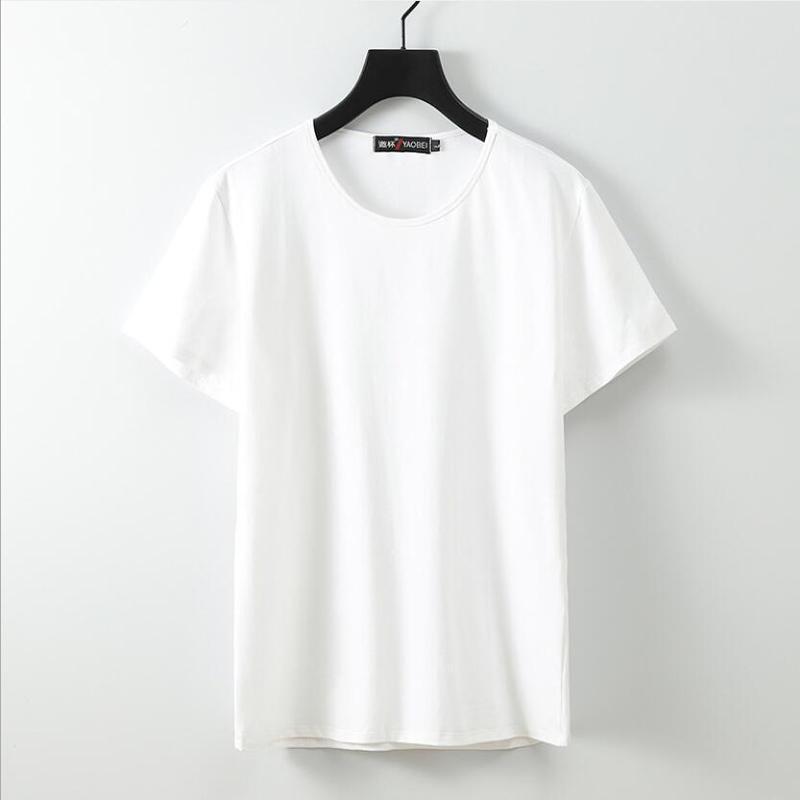 Männer große T-Shirt Large Size 12XL 11XL 9XL 10XL Kurzarm Rundhals lose beiläufige Schwarz Grau Weiß