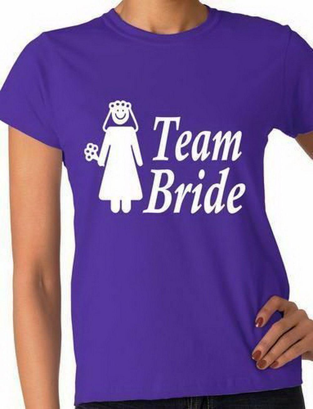 Gallina Novia del equipo camiseta deportiva de dama divertido camiseta de las señoras tamaño S-XXL Impreso T Sudadera con capucha