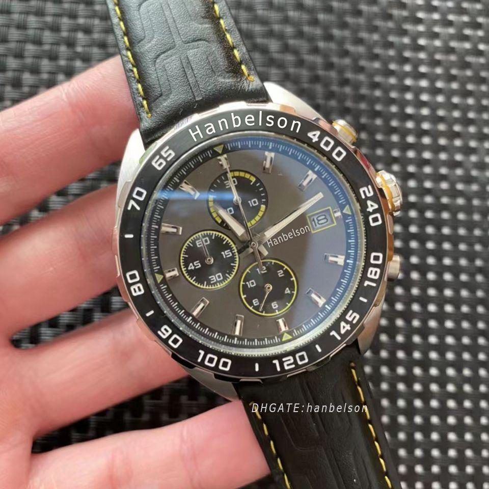 2021 Nuovo Orologio di Lusso Orologio da uomo in acciaio di alta qualità Case in metallo grigio viso luxusuhr orologi al quarzo cronografo movimento mens orologi sportivi