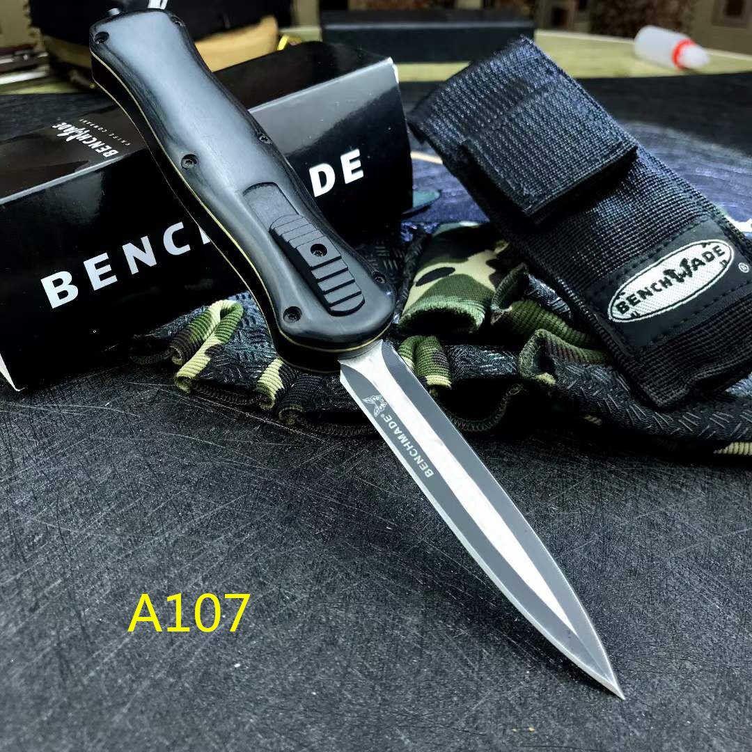 새로운 벤치 메이드 A017 A016 EDC OUT 자동 하이킹 전면 자동 나이프 전술 전투 캠핑 유틸리티 포켓 나이프를 칼