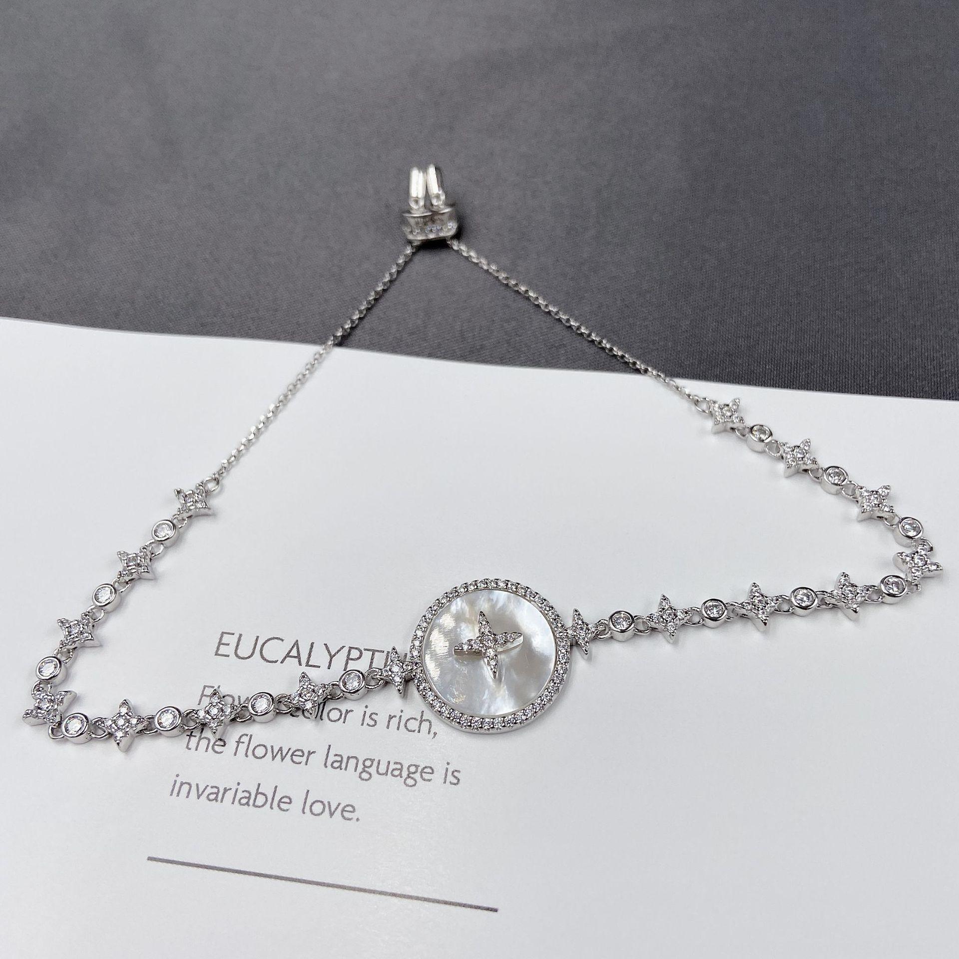 HbusP yq.apm925 Pure silver Fritillaria for hand fashion women temperament personalized simple jewelry yq.apm925 Pure silver Fritillaria for