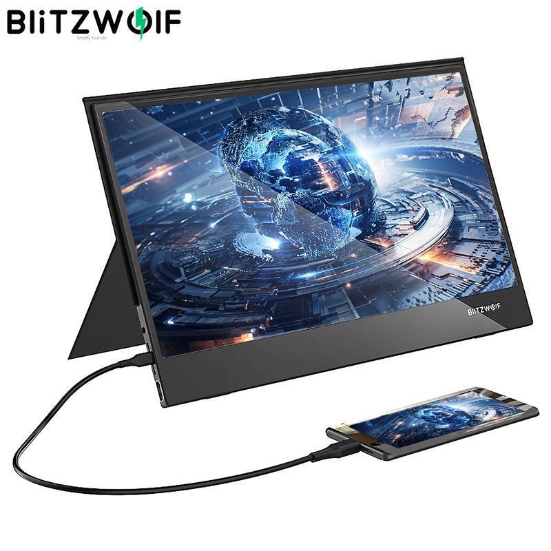 BlitzWolf BW-PCM5 15,6-дюймовый Touchable портативный компьютер монитор Gaming экран для смартфонов Tablet Laptop игровой консоли