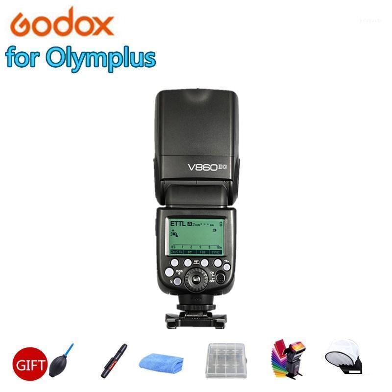 Мигает GoDox Flash V860II o Speedlite 2.4G Беспроводная HSS 1 / 8000sl 2000mAh Li-на аккумуляторной батареи вспыхивает свет для камеры1