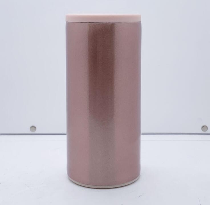 12 온스 빈 승화 캔 쿨러 6 색 열전달 슬림 캔 스테인레스 스틸 이중 벽 음료 텀블러 SEA 해운 CCA12614