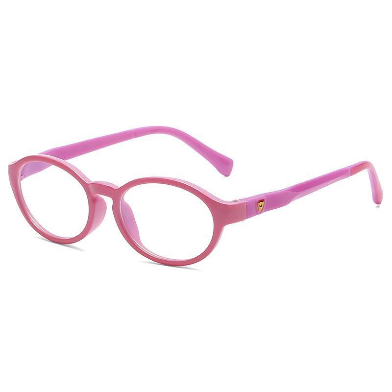 Anti-Blau-Licht-Gläser Computer-Kids Frame Brille Mädchen-Jungen-Kinder Blocking Gaming TR90 Silikon-Schutzbrille