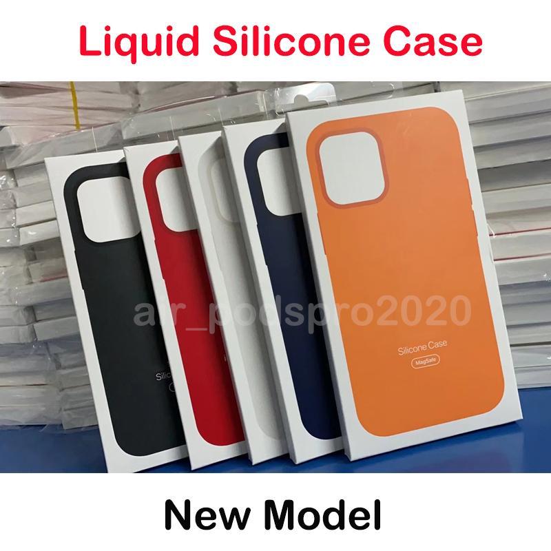 Оригинальная Жидкие силиконовый чехол для iPhone 12 Pro Max 12mini 12pro Case Официального Жидкого корпус с Retail Box